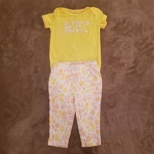 Carter's Daddy's Girl Yellow Floral 2 Piece Set
